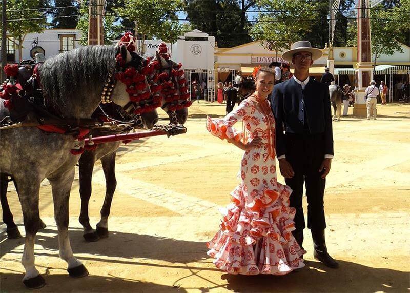 Херес де ла Фронтера, Испания, традиционная ярмарка, май 2012 года
